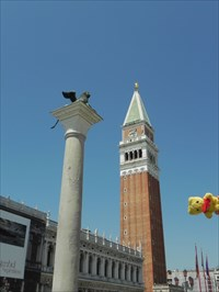 Tibärius at the Winged Lion Column - Venice, Italy