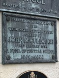 Image for John McCullough Plaque - Hamilton, ON