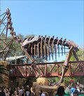 Image for Fossil Brachiosaurus Replica - Disney's Animal Kingdom, Orlando, Florida, USA.