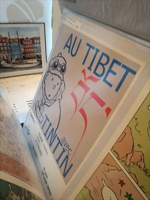 A very nice and special Tintin in Tibet poster.....I have to buy it!