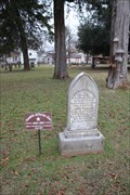 Image for OLDEST -- Marked grave at Oak Grove Cemetery, Nacogdoches TX