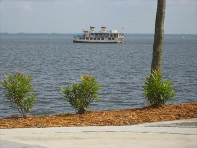 Using the Compass Rose, I took this picture of the Rivership Romance looking Northeast!