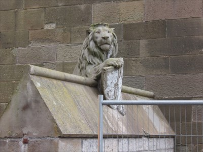 Lion - Castle Gate, Cardiff, Wales.