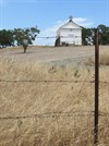 White Church, Fence and Post, Color, Hornitos, California