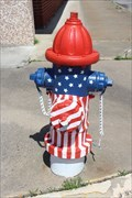 Image for American Flag Hydrant - Ardmore, OK