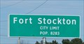 Image for Fort Stockton TX - Pop. 8283