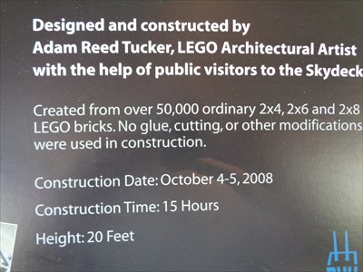 Lego Willis Tower - (Sears Tower) - Chicago, Illinois, USA.