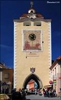 Image for Clock on Pilsen Gate in Beroun / Hodiny na Plzenské bráne v Beroune (Czech Republic)