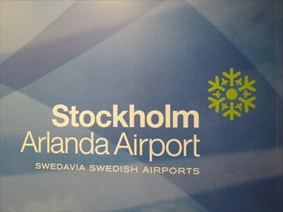 Stockholm Arlanda Airport Sign, Stockholm, Sweden