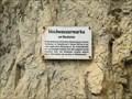 """Image for Flood marker """"Blechstein"""" / Fränkische Schweiz / Germany"""