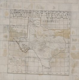 Relief Map Of Texas.Relief Map Of Texas Ned S Holmes Performance Hall Houston Tx