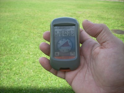 GPS shows palindromic coordinates.