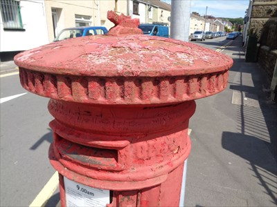 Victorian Pillar Box - London Road - Neath, Wales