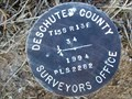 Image for T15S R13E S34 [T16S R13E S3] SC 1/4 COR - Deschutes County, OR