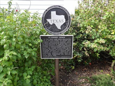 Texas Historical Marker Number: 7171Marker Text: In the 1840s and 1850s, Galveston was a major point of entry for German immigrants. Bishop John M. Odin recommended construction of this church in 1859-60 for the German Catholic population. Joseph Bleicke, a German-born carpenter, built the frame structure with Gothic revival detailing. A trefoil window adorns the square bell tower. St. Joseph's operated a parochial school from 1876 to 1926 and remained an active parish until 1968.Recorded Texas Historic Landmark - 1978
