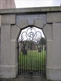 Image for Cemetery Gate, B4403, Llanuwchllyn, Bala, Gwynedd, Wales, UK