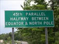 Image for 45th Parallel Halfway between Equator & North Pole- Highway M22
