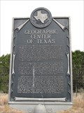 Image for Geographic Center of Texas, near Brady, TX