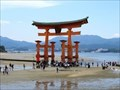 Image for Torii Gate of Itsukushima Shrine at Low Tide - Hatsukaichi, Japan