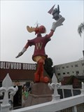 Image for 52-Year-Old Bullwinkle Statue Lifted Off the Strip  -  Hollywood, CA
