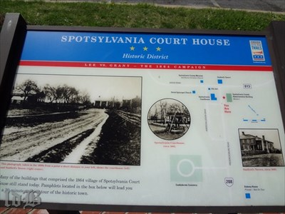 One of two CWDT markers at Spotsylvania Court House -- Historic District