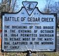 Image for Battle of Cedar Creek