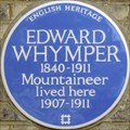 Image for Edward Whymper Blue Plaque - Waldegrave Road, Teddington, London, UK