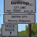 Image for Bacarra Sister City Sign - Lathrop, CA