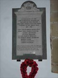 Image for WWI Memorial, St Michael & All Angels, Martin Hussingtree, Worcestershire, England