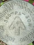 Image for AT - PA 365 30H - Appalachian Trail Survey Marker - Carlisle, PA