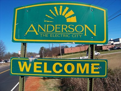 The Electric City Anderson South Carolina Welcome Signs On Waymarking