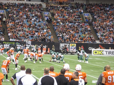 Great game at a great venue.  LOVE the CFL!!!!