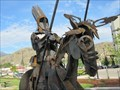 Image for New metal sculpture represents connection between town and Osoyoos Indian Band - Oliver, British Columbia