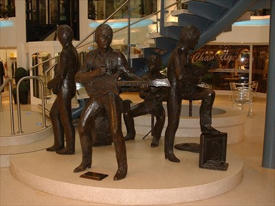 A full-sized statue of The Beatles by JOHN DOUBLEWAY