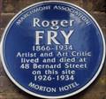 Image for Roger Fry - Bernard Street, London, UK