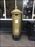 Image for Gold VR Pillar Post Box. Lincoln. UK