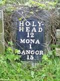 Image for A5 Milestone (Bangor 13), Mona Airfield, Ynys Môn, Wales