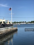 Image for Nautical Flag Pole at Wickford on the Water restaurant - Wickford, Rhode Island  USA