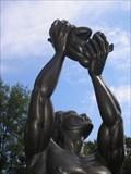 "Image for ""Behold"" Kunta Kinte uplifting his new son Kizzy- King Center Atlanta, Ga"