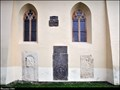 Image for Epitaph stones in wall of Nativity of Our Lady Church / Epitafy na  zdi kostela Narození Panny Marie - Pruhonice (Central Bohemia)