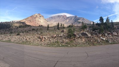 Panorama from the Road, Mt Shasta, California