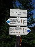 """Image for Turisticky ukazatel """"Tepla Vltava (u mostu)"""" - Kvilda, Czech Republic"""