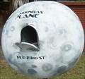 Image for Moon Mailbox in front of World Globe Gas Tank - Savannah, GA