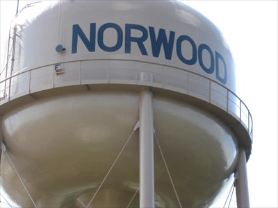 Norwood Water system elevated storage tank