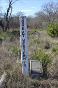 Image for The Great Western Trail -- US 83 former rest area, Menard TX