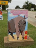 Image for Bison and Native American silhouette - Guthrie, OK