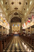 Image for Cathedral Basilica of St Louis Flags -- New Orleans, Louisiana, USA