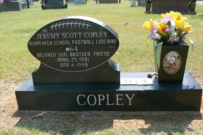 Jeremy Scott Copley Football Roselawn Memorial Park