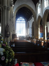 ...the nave and large east window.