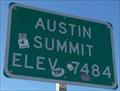 Image for Westbound Austin Summit - Elevation 7484 feet